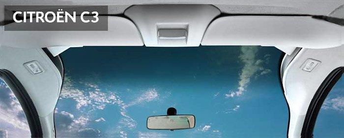 Выпуклая форма лобового  стекла создает внутри салона атмосферу уюта